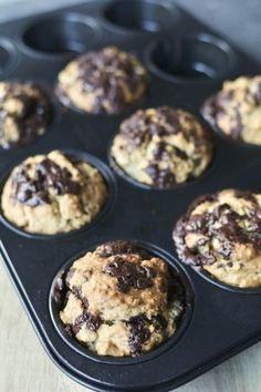 Chocolade havermout muffins , Glutenvrije muffins, Gezonde muffins, Gezonde bakrecepten, Gezonde foodblogs, Suikervrije tussendoortjes, Suikervrije muffins, Beaufood recepten