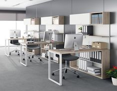 Today, we'll show you 20 inspirational home office decor ideas for 2019 you'll absolutely adore! Small Office Design, Industrial Office Design, Corporate Office Design, Ikea Office, Office Workspace, Home Office Decor, Office Furniture Design, Office Interior Design, Office Interiors