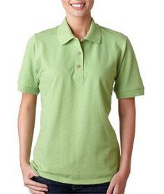 Gildan Women's Welt Collar Polo Sport Shirt, Kiwi, Small by Gildan. $13.74