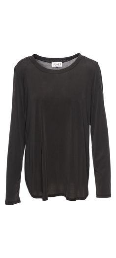 R+D Side Peek Long Sleeve in Black / Manage Products / Catalog / Magento Admin