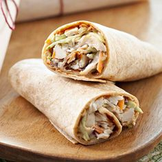 BBQ Ranch Wraps Tangy yet sweet, these easy wraps use shredded chicken or turkey for a low-fat, high-protein quick-fix lunch or dinner.
