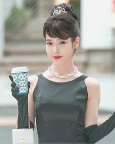 My favorite style icon portrayed by my favorite Korean Actress IU, is a gorgeous sight to see. Satisfy your curiosity and watch Audrey Hepburn come to life in Hotel del Luna. } } More inspo on link Luna Fashion, Fashion In, Korean Fashion, Korean Beauty, Asian Beauty, Audrey Hepburn Style, Breakfast At Tiffanys, K Idol, Korean Actresses
