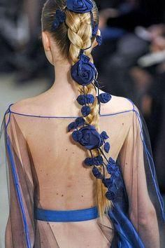 #blue #braid #flower