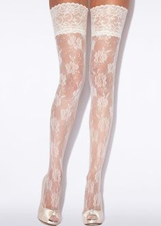 afe0e98a32 Wedding Hosiery ~ Bridal Floral Net Hold Ups By Charnos