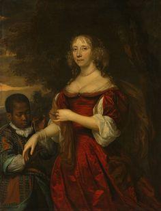 17th century red silk dress.