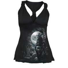 Big Cat Spiral Direct Midnight Black Panther Gathered Bust Ladies Gothic Top | eBay