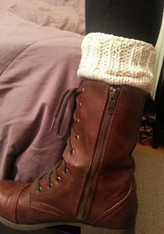 Winter Boot Cuffs Knit Toppers Leg Warmers Knit by StinaCole, $22.00