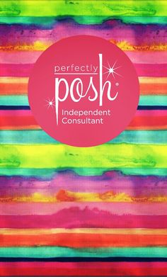 Perfectly Posh Icon phone wallpaper (rainbow watercolor)