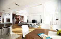 Projekt domu Rezydencja Parkowa (TKS-275) - 258.96m² House Plans, Conference Room, Villa, Table, Furniture, Home Decor, Bungalows, Exterior, Dogue De Bordeaux