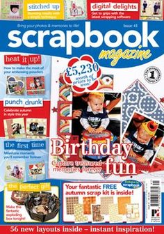 scrap-book magazine! I want to try doing this!!