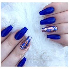 Blue Coffin Nails  by MargaritasNailz