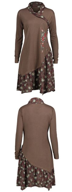 $12.66,Plus Size Asymmetric Floral Panel Tunic Top - Brown 3xl | Rosewholesale,rosewholesale.com,rosewholesale clothes,rosewholesale.com clothing,rosewholesale plus size,rosewholesale dress plus size,rosewholesale tops,rosewholesale for women, hoodies,sweatshirts,tops,plus size,plus size tops,plus size dress | #rosewholesale  #Plussize #hoodies #tops
