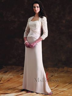 b891ec5060d Sheath Column Floor-length Sweetheart Chiffon Mother Of The Bride Dress  With Lace at