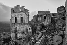Craco Ghost Town, Italy - shared with pixbuf.com #travel #italy #bw #blackandwhite #leica