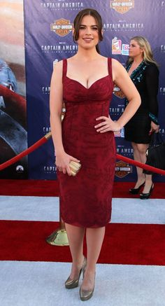 hayley atwell captain america premiere - Google Search