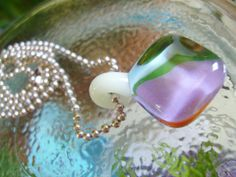 Glass Necklace Pendant with Glow in the Dark by EighthPlanetGlass, $30.00
