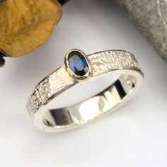 sapphire silver and gold ring wicker texture Gold And Silver Rings, Wicker, Sapphire, Gemstone Rings, Handmade Jewelry, Etsy Seller, Gemstones, Texture