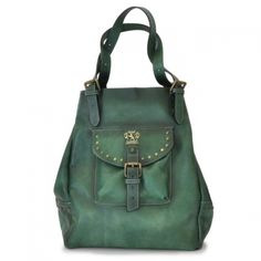 c279e2ebc9 Pratesi Womens Italian Leather Woman Bag Talamone in Cow Leather in Emerald  (Green)