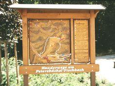 Allgäuer Holzschild Wander- und Umgebungskarte mit Infos zu Wanderwegen