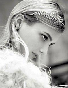 Chanel Joaillerie | S/S 2013 Campaign // Pretty headpiece for a wedding #bride #style