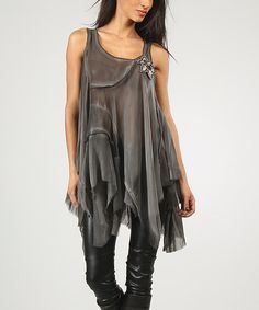Another great find on #zulily! Anthracite Eva Tunic by Charlotte & compagnie #zulilyfinds