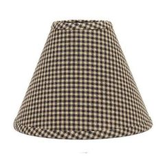 12 inch Black Check Lamp Shade Home Collection by Raghu Newbury Gingham Cotton #Raghu #Country