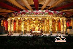 Venkateswara Flower Decors (VFD) provides Reception Stage, Hall & All Wedding Decoration Services in Chennai. Indian Wedding Stage, Wedding Stage Design, Wedding Reception Backdrop, Wedding Mandap, Wedding Set Up, Wedding Events, Wedding Halls, Garland Wedding, Indian Weddings