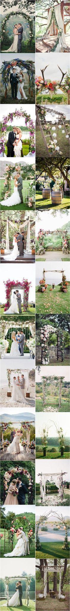 Top 25 Wedding Arch Decoration Ideas- Floral Wedding Arches