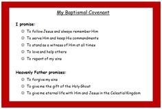 """At our """"Preparing for Baptism"""" evening we gave each child who will be baptized this year a card with the baptismal covenant points on it."""