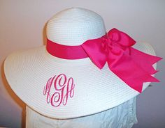 Monogrammed and Personalized Floppy Wide by LaDiDaLadyBoutique