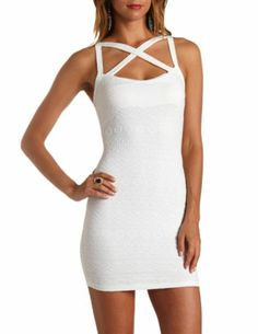 Crocheted Lace Racerback Bodycon Dress: Charlotte Russe ...