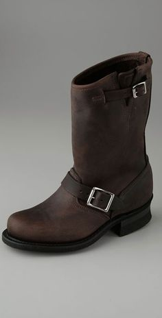 Shop for Engineer Boots by Frye at ShopStyle. Frye Boots, Biker Boots, Leather Buckle, Black Leather, Frye Engineer Boots, Elle Blogs, Baby Uggs, Cream Blazer, Black Kids