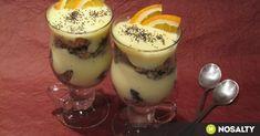 Narancsos guba kehely recept képpel. Hozzávalók és az elkészítés részletes leírása. A narancsos guba kehely elkészítési ideje: 20 perc Desserts In A Glass, Guam, Trifle, Nom Nom, Panna Cotta, Sweet Treats, Dessert Recipes, Food And Drink, Ice Cream