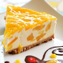 Mango Cheesecake: Smooth as silk, this one is made from mango puree, hung curd and cream.