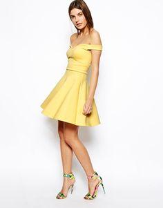 Enlarge ASOS Scuba Bardot Skater Dress