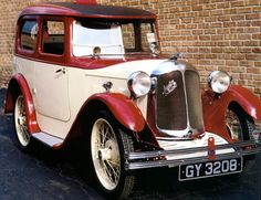 1932 Austin Swallow 2 Door Sedan Cream Bronze