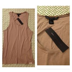 Marc Jacobs light brown tunic tank size small NWT! 100% Cotton. Color: chinchilla Marc by Marc Jacobs Tops Tunics