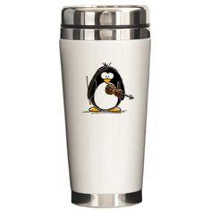 Penguin Stainless Steel Travel Mug> Penguins> Animals Penguin World, Penguin Animals, Penguin Love, Penguin Party, All About Penguins, Cute Penguins, Best Friend Soul Mate, Pretty Mugs, Stainless Steel Travel Mug
