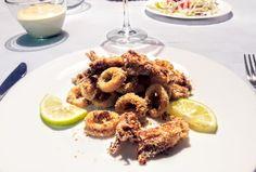 Crispy calamari in oven