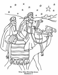 The Journey of the Three Wise Men coloring page. Hellokids has selected lovely coloring sheets for you. There is the The Journey of the Three Wise Men .