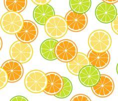 citrus slice print. Lemon Yellow, Lemon Lime, Green And Orange, Little Trailer, Lemon Print, Vintage Florida, Orange Fabric, Fruit Art, Orange Slices