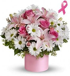 Pink Hope and Courage Bouquet - At Jacqueline's Flowers & Gifts