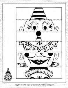 Farsang :: Óvoda Clown Crafts, Circus Crafts, Carnival Crafts, Carnival Themes, Diy Crafts To Sell, Diy Crafts For Kids, Kindergarten Activities, Activities For Kids, Shot Book