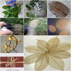 DIY skeleton leaf