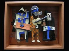 A jazz band made entirely of metal. Artist are Lisa and Scott Cylinder.
