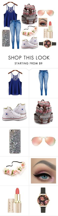 """""""Summer? Where are you?"""" by kayley2103 ❤ liked on Polyvore featuring City Chic, Converse, Aéropostale, Ray-Ban and Olivia Burton"""