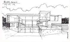 steinmetzdemeyer projects mlgsl 0619 maison loveboat sketch - Architecture Moderne Maison Dessin