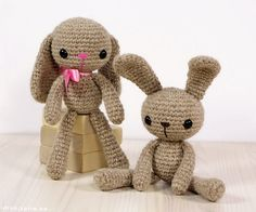 this tiny slim and skinny pair is even more attractive. These dull shaded crocheted bears are even more heart touching and appealing. The distinction between male and female is generated with this charming pink ribbon, you just need a small amount of supplies trust me.