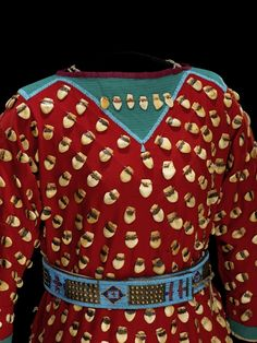 Culture/People:Apsáalooke (Crow/Absaroke) Object name:Woman's dress Date created:circa 1890 Place:Montana; Native American Clothing, Native American Regalia, Native American Artifacts, Native American Beadwork, Native American Women, American Indian Art, Native Indian, Native Art, Bead Sewing