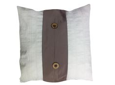 white and button pillow